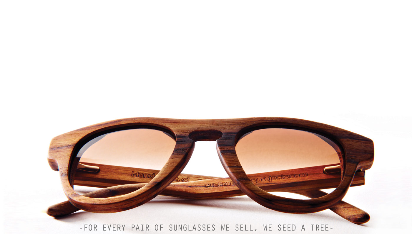 Wooden designer sunglasses